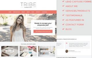 Tema Tribe - Temas Wordpress Para Mujeres De Negocios